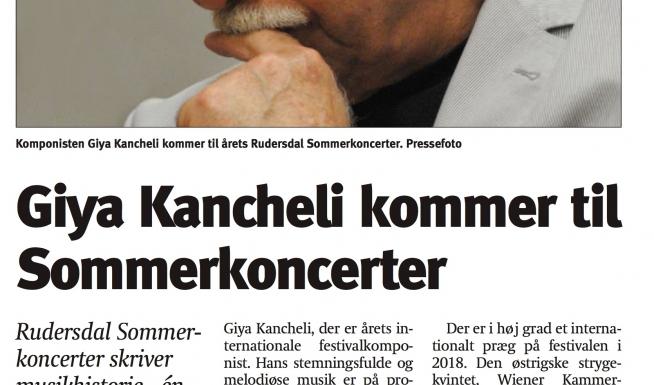 Giya Kancheli kommer til Sommerkoncerter (e6d1c852)